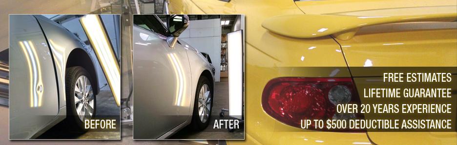 hail damage repair autobody shop